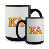 Full Color Black Mug 15oz-Two Color KA
