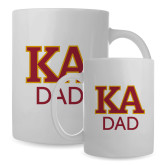 Dad Full Color White Mug 15oz-Two Color KA