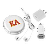 3 in 1 White Audio Travel Kit-Two Color KA