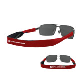 Croakies Cardinal Thin Band Sunglasses Strap-KA 150 Shield Wordmark