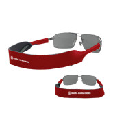 Croakies Cardinal Wide Band Sunglasses Strap-KA 150 Shield Wordmark