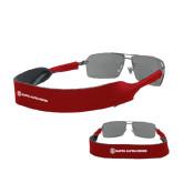 Croakies Cardinal Wide Band Sunglasses Strap-KA 150 Shield Wordmark