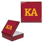 Red Mahogany Accessory Box With 6 x 6 Tile-KA