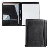 Millennium Black Leather Writing Pad-Kappa Sigma - Greek Letters - Debossed