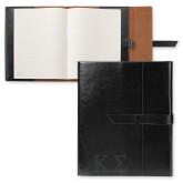 Fabrizio Black Portfolio w/Loop Closure-Kappa Sigma - Greek Letters - Engraved