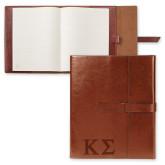 Fabrizio Brown Portfolio w/Loop Closure-Kappa Sigma - Greek Letters - Engraved