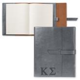 Fabrizio Grey Portfolio w/Loop Closure-Kappa Sigma - Greek Letters - Engraved