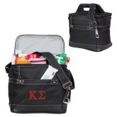 Precision Black Bottle Cooler-Kappa Sigma - Greek Letters - 2 Color