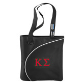 Lunar Black Convention Tote-Kappa Sigma - Greek Letters - 2 Color