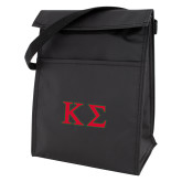 Koozie Black Lunch Sack-Kappa Sigma - Greek Letters - 2 Color