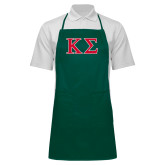 Full Length Dark Green Apron-Kappa Sigma - Greek Letters - 2 Color