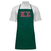 Full Length Dark Green Apron-Kappa Sigma - Greek Letters - 2 Color
