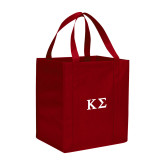 Non Woven Red Grocery Tote-Kappa Sigma - Greek Letters