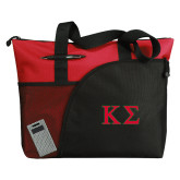 Excel Red Sport Utility Tote-Kappa Sigma - Greek Letters - 2 Color