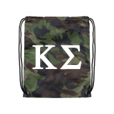 Camo Drawstring Backpack-Kappa Sigma - Greek Letters