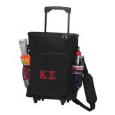 30 Can Black Rolling Cooler Bag-Kappa Sigma - Greek Letters - 2 Color