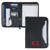 Wall Street Black Zippered Padfolio-Kappa Sigma - Greek Letters - 2 Color