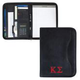 Insight Black Calculator Padfolio-Kappa Sigma - Greek Letters - 2 Color