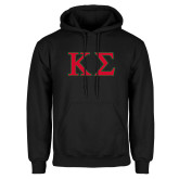 Black Fleece Hoodie-Kappa Sigma - Greek Letters - 2 Color
