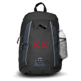 Impulse Black Backpack-Kappa Sigma - Greek Letters - 2 Color