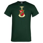 Dark Green T Shirt-Crest