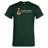 Dark Green T Shirt-Kappa Sigma Fraternity w/ Crest