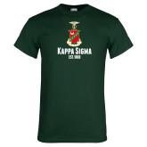 Dark Green T Shirt-Kappa Sigma Est 1869 Stacked