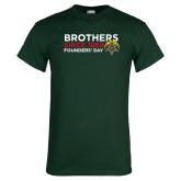 Dark Green T Shirt-Brothers Since