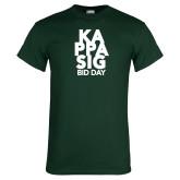 Dark Green T Shirt-Kappa Sig Bid Day Stacked
