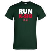 Dark Green T Shirt-Run K-Sig
