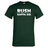 Dark Green T Shirt-Rush Kappa Sig Retro