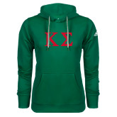 Adidas Climawarm Dark Green Team Issue Hoodie-Kappa Sigma - Greek Letters