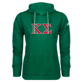 Adidas Climawarm Dark Green Team Issue Hoodie-Kappa Sigma - Greek Letters - 2 Color