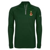Under Armour Dark Green Tech 1/4 Zip Performance Shirt-Crest