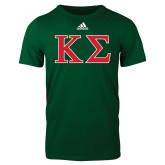 Adidas Dark Green Logo T Shirt-Kappa Sigma - Greek Letters - 2 Color
