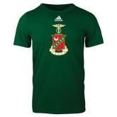 Adidas Dark Green Logo T Shirt-Crest
