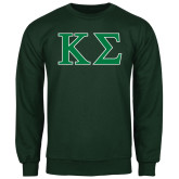 Dark Green Fleece Crew-Kappa Sigma - Greek Letters - 2 Color