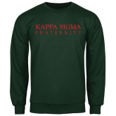Dark Green Fleece Crew-Kappa Sigma Fraternity