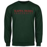 Dark Green Fleece Crew-Kappa Sigma Fraternity