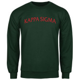 Dark Green Fleece Crew-Arched Kappa Sigma