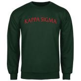 Dark Green Fleece Crew-Arched Kappa Sigma