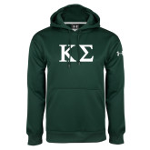 Under Armour Dark Green Performance Sweats Team Hoodie-Kappa Sigma - Greek Letters