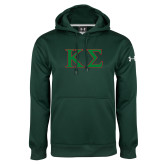 Under Armour Dark Green Performance Sweats Team Hoodie-Kappa Sigma - Greek Letters - 2 Color