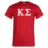 Red T Shirt-Kappa Sigma - Greek Letters