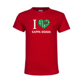 Youth Red T Shirt-I Heart Kappa Sigma