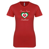 Next Level Ladies SoftStyle Junior Fitted Red Tee-Kappa Sigma Sweetheart