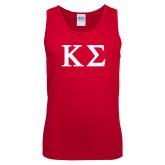 Red Tank Top-Kappa Sigma - Greek Letters