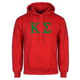 Red Fleece Hoodie-Kappa Sigma - Greek Letters