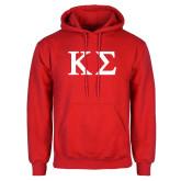 Red Fleece Hood-Kappa Sigma - Greek Letters
