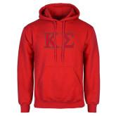 Red Fleece Hood-Kappa Sigma - Greek Letters - 2 Color